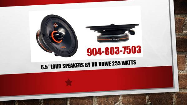 Photo CAR AUDIO PRO AUDIO SPEAKERS MADE BY DB DRIVE (Jacksonville)