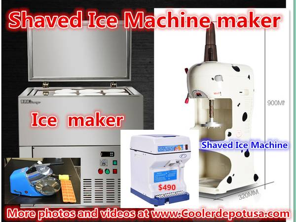 Photo COMMERCIAL SHAVED ICE MACHINE ICE CUBE SHAVER SNOW CONE ICE MAKER - $319 (100 new)