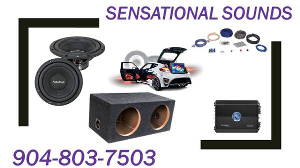 Photo DUAL 12quot ROCKFORD FOSGATE SUBWOOFER BASS PACKAGE INSTALLED (Jacksonville)
