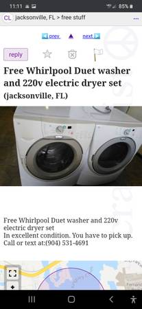 Photo FREE WASHER  DRYER CHINESE SCAMMER (Near Greencove Springs)