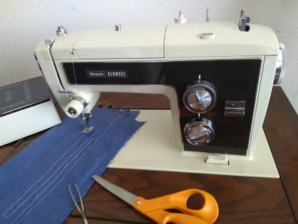 Photo Kenmore Sewing Machine w cabinet and cams model 1803, sews nice - $95