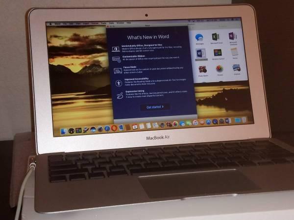 Photo Macbook Air ultra lightweight model - $425