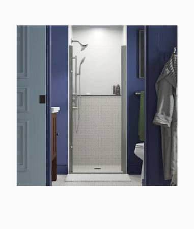 Photo NEW Sterling Finesse Frameless Pivot Nickel Shower Door (Clear Glass) - $200 (Palm Valley)