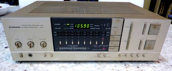Photo Pioneer SX-6 Vintage Stereo Receiver AMFM Made In Japan - $80 (Jacksonville)