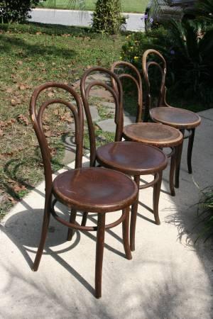 Photo Set of Four Fishel Chairs Thonet Style Bentwood - $600 (Orange Park  Middleburg)
