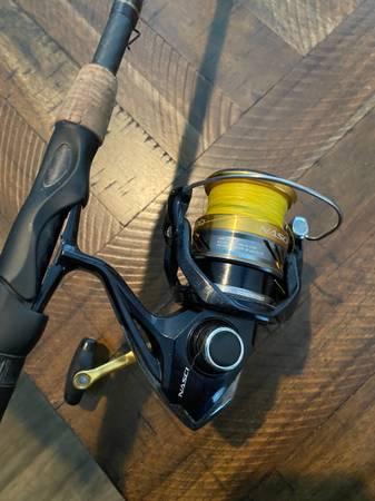 Photo Shimano Nasci 3000  Fenwick HMG 739 MedFast Rod Fishing Combo - $120 (Southside)