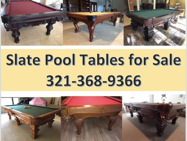 Photo Slate Pool Tables for SaleInstallation  New Felt Included - $1 (Winter Springs)