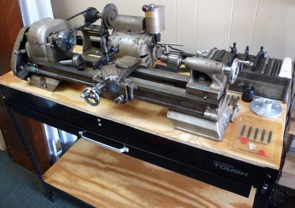 Photo Vintage Craftsman 101 6quot x 18quot Metal Lathe Complete on Bench - $1,000 (San Marco, Jacksonville)
