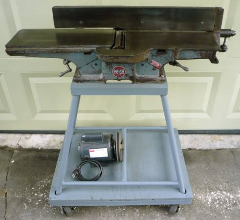 Photo Vintage Delta  Rockwell 6quot Jointer  Dayton Motor  Stand  Dolly USA - $275 (San Marco, Jacksonville)