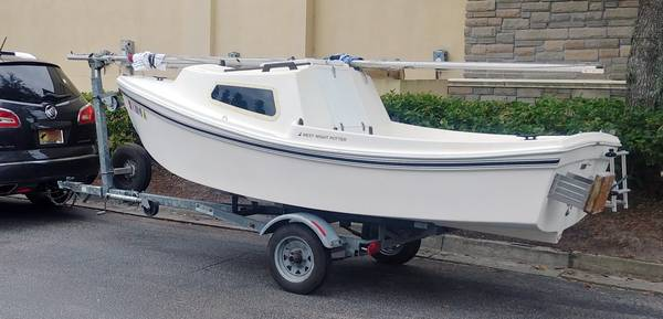 Photo West Wight Potter 15 Sailboat, trailer and with 3.5hp Tohatsu Outboard - $3800 (Saint Johns, Florida)