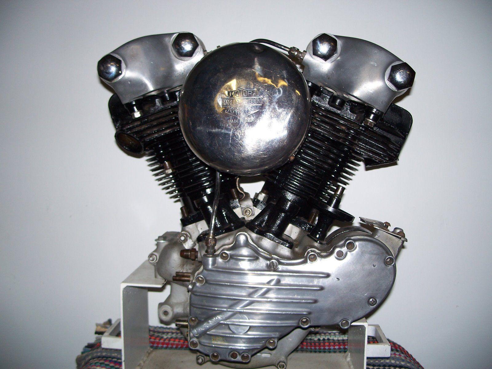 Photo 1946 Harley Knucklehead Panhead Motor Engine Cases