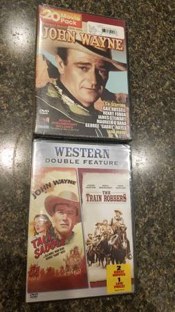 Photo 2 DVDs John Wayne, new, unopened) - $3 (westside or southside Janesville)