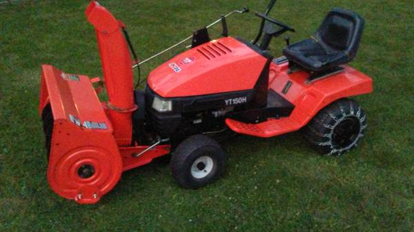 Photo 36inch Two stage snow thrower tractor combo - $950 (Elgin rt 59 and rt 90)