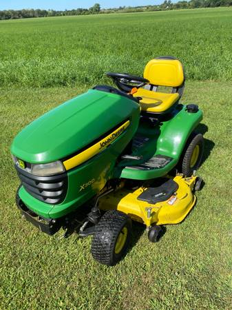Photo John Deere X300 lawn mower - $1,800 (Waupun)