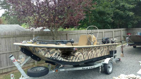 Photo 16ft Carolina skiff. 50hp evinrude - $6,500