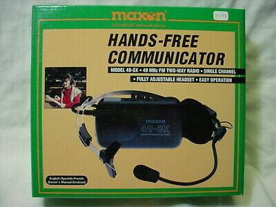 Photo (2) - Maxon 49-SX Hands Free 49 Mhz FM Two-Way Radios with VOX - $8 (Toms River)