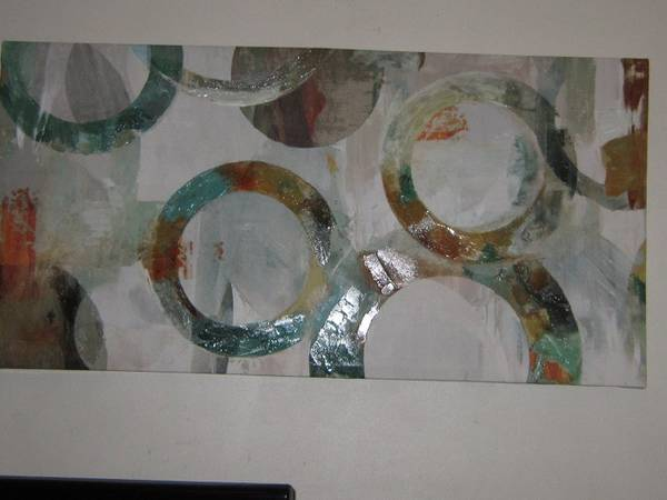 Photo 40 inch X 20 inch Infinite Rings Circles39 - Wrapped Canvas Graphic Art - $20 (Brick)