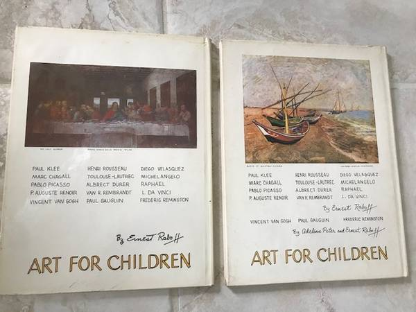 Photo Art For Children Art Books - Leonardo Da Vinci  Vincent Van Gogh - $20 (JACKSON)