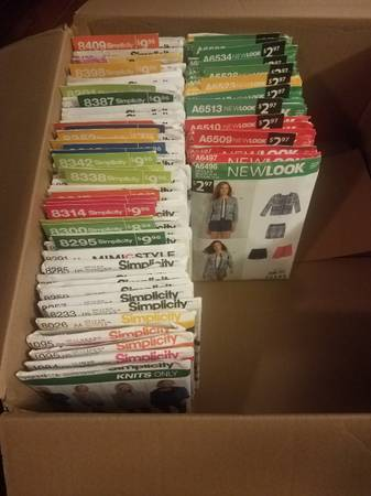 Photo Box of 80 Simplicity Sewing Patterns - $60 (Fox Chase)