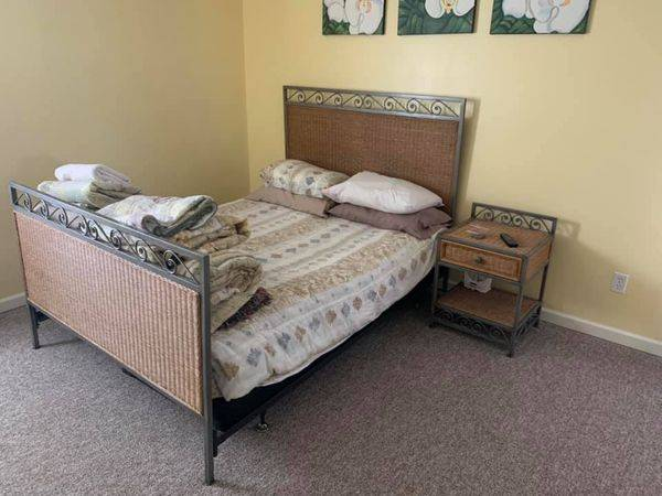 Photo Free Pier One Queen Bed and Night Stand (Wildwood)