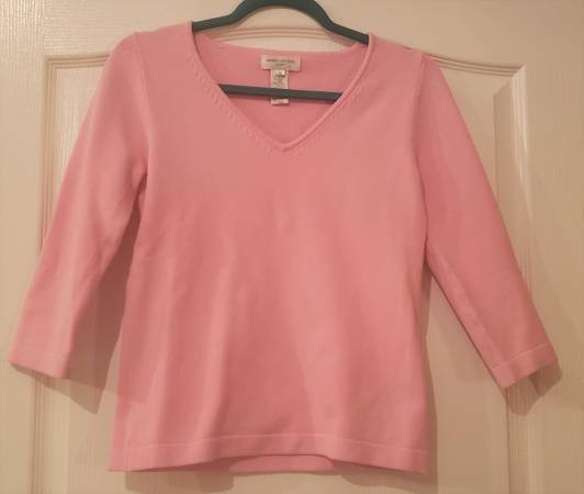 Photo JONES NEW YORK SPORT Pink CottonLycra Sweater (stretch) - Size SMALL - $12 (Toms River)