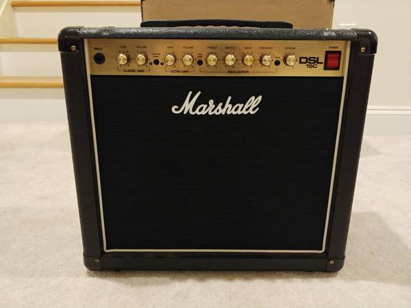 Photo Marshall DSL15C 15W All-Tube 1x12 Guitar Combo Amp - $333 (red bank)