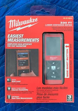 Photo Milwaukee 330 foot laser distance meter - 48-22-9893 - Brand New - $100 (Sea Girt)
