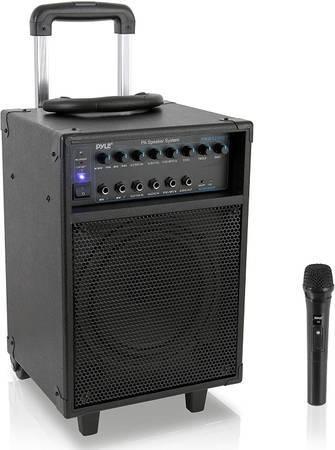 Photo Pyle Pro portable PA system  microphone - $80 (JACKSON)