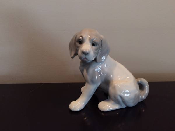 Photo Royal Crown Retriever Puppy Dog Sitting Figurine Japan 5 34 (Signed - $25 (Brick)