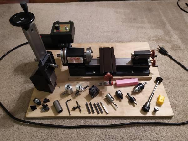 Photo Sherline lathe and milling machine - $800 (Beachwood)