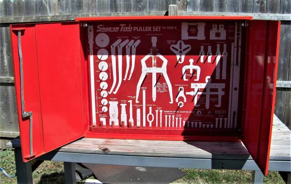 Photo Snap-On Master Board For Puller Set No. VE-1002-S With Locking Cabinet - $125 (Waretown)