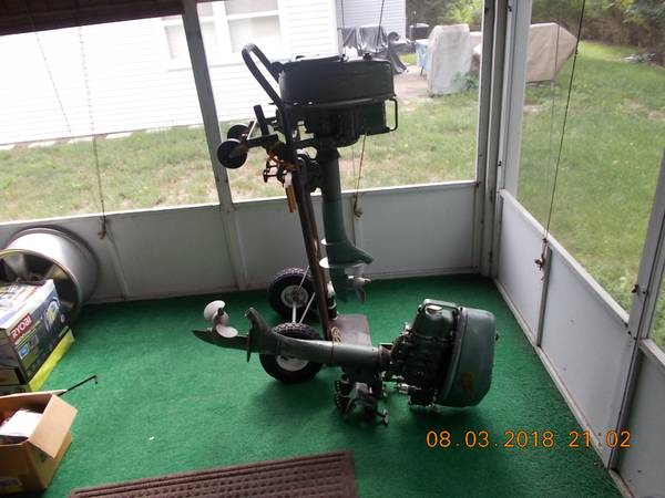 Photo Two Elgin 5hp outboard motors - $150 (Whiting)