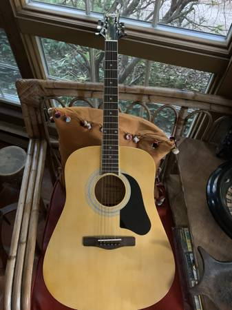 Photo VINTAGE SILVERTONE PRO SERIES ACOUSTIC GUITAR WITH SOFT CASE - $150 (SEA GIRT)