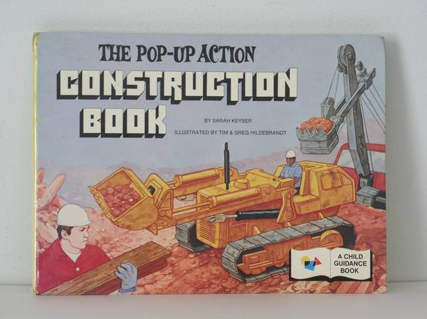 Photo Vintage Pop Up Action Construction Book Hard Cover  GREAT CONDITION - $20 (Little Egg Harbor)