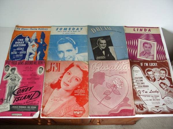 Photo Vintage Sheet Music Band, Piano, Organ, Accordion, Country  65 Pieces - $20 (Little Egg Harbor)