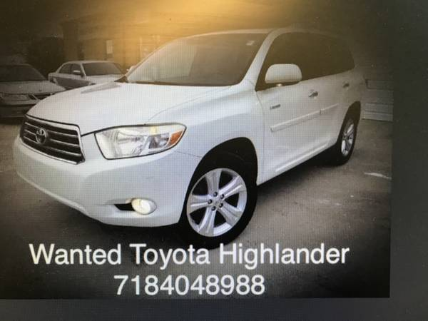 Photo Wanted 2001,2002,2003 and up too Your Toyota Highlander - $7000