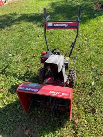 Photo Yard Machines snowblower - $225
