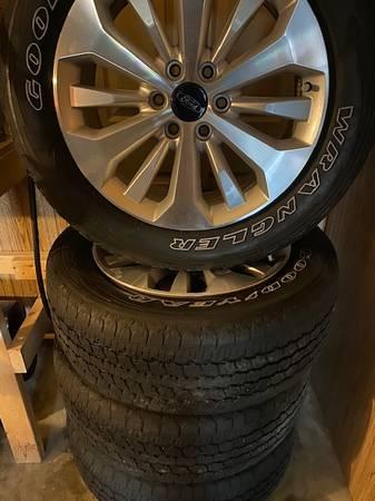 Photo 20quot Ford Platinum Wheels with Goodyear Wrangler tires - $750 (Jonesboro)