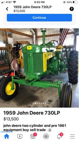 Photo For Sale or trade John Deere Tractor - $11,500 (Black Oak)