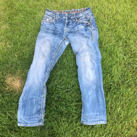 Photo RARE FIND MENS ROCK REVIVAL ADLEY STRAIGHT JEANS - $80 (Conway)