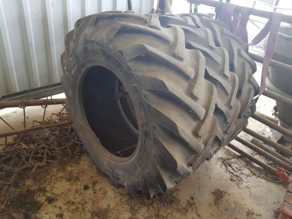 Photo Set of 3 Used Tractor Tires 15.5 80 - 24 - $750 (Imboden)