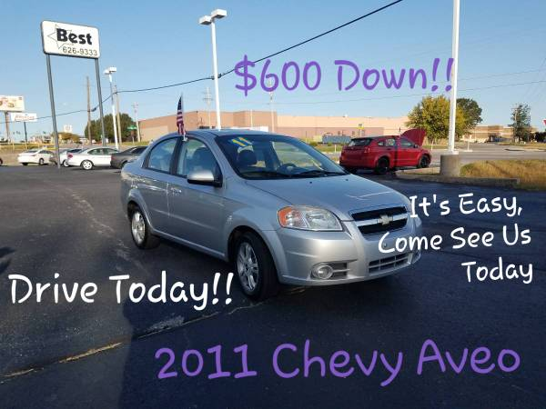 Photo 2011 Chevy Aveo, Bad Credit We Can Get You In A Vehicle (www.bestbuyherejoplin.com)
