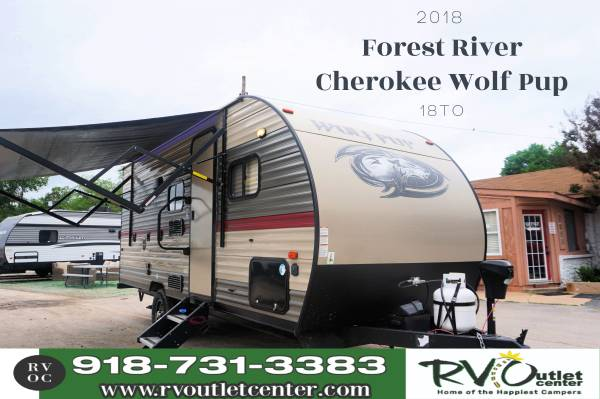 Photo 2018 Forest River Cherokee Wolf Pup 18TO Half-ton Towable - $20,999 (Tulsa)