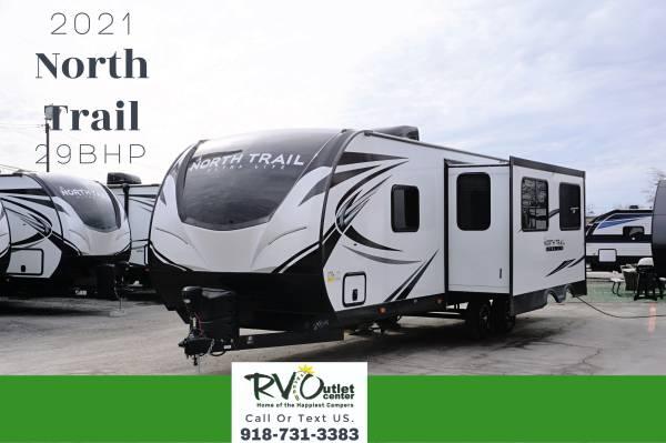 Photo 2021 Heartland North Trail 29BHP Travel Trailer Sleeps 10 Bunk House - $30,999 (Tulsa)