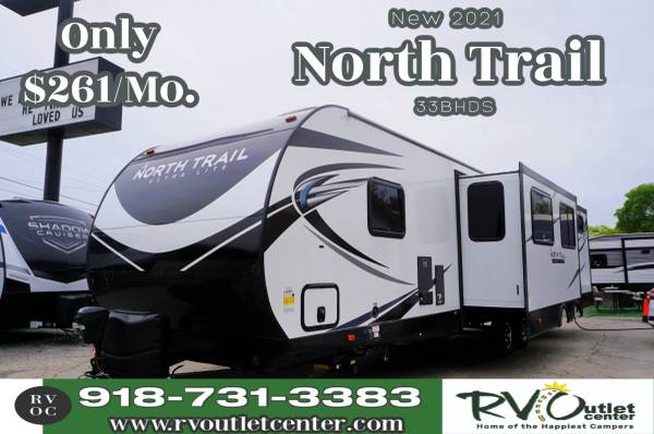 Photo 2021 North Trail 33BHDS Travel Trailer Has Private Bunkhouse - $39,999 (Tulsa)