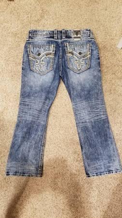 Photo 38 waist Rock Revival Jeans - $65 (Carl Junction)