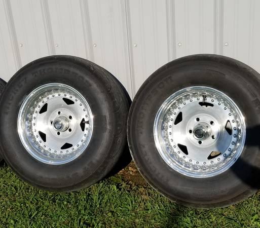 Photo Centerline wheels, Mickey Thomps Drag radials tires - $325 (West Joplin)