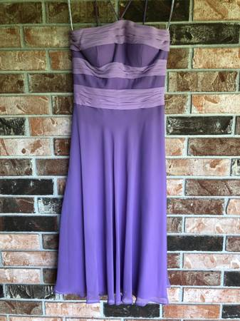 Photo PurpleOrchid Two-Tone Tea Length DressFormalBridesmaid, Size 4, B2 - $20 (Fayetteville)