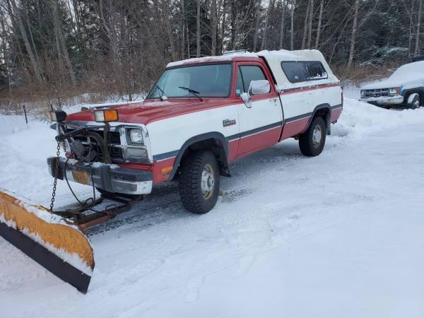 Photo 1991.5 dodge w250 diesel truckplow - $4500 (Juneau)