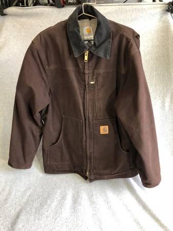 Photo Carhartt Mens Sherpa-Lined coat full zip medium dark brown - $75 (Juneau)